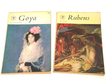 Goya and Rubens, Miniature Art Books, Blanford Press