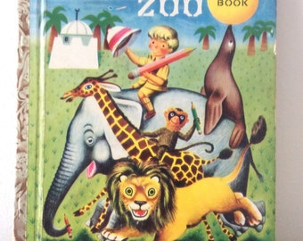 Alberts Zoo A Stencil Book-Little Golden Book-1951-edition A