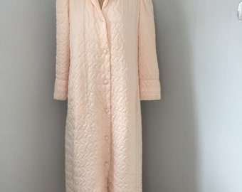 Vintage Christian Dior Pink Quilted Nylon Robe. Lingerie. Large