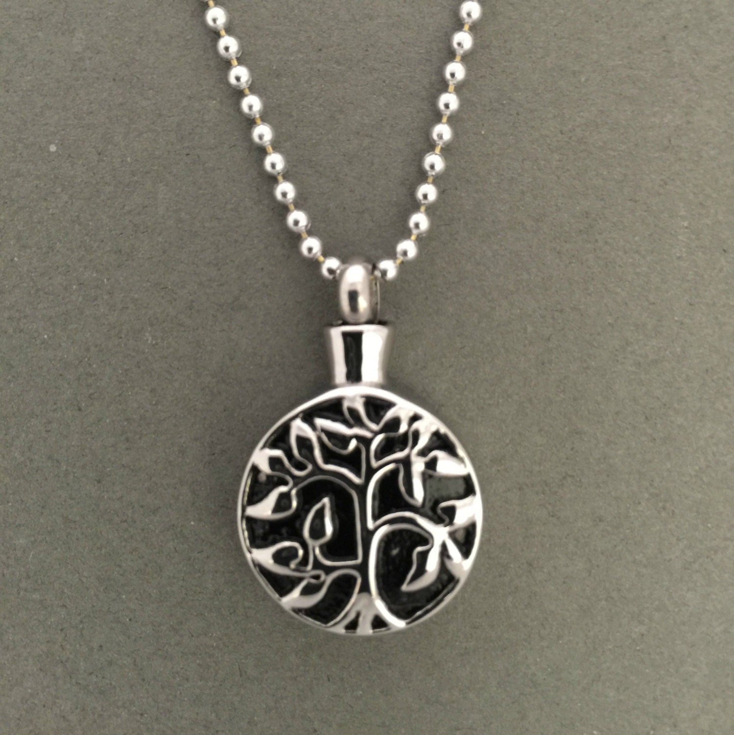 tree of urn necklace ashes holder cremation jewelry