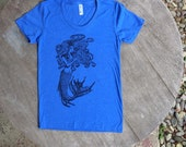 SALE CLEARANCE Mermaid Goddess tee / Hand drawn design / American Apparel womens scoop neck tee