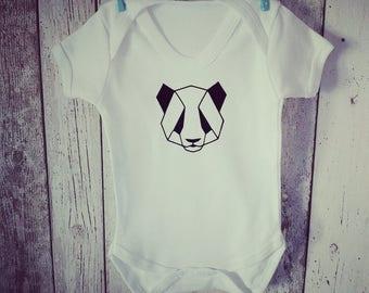 Geometric panda vest