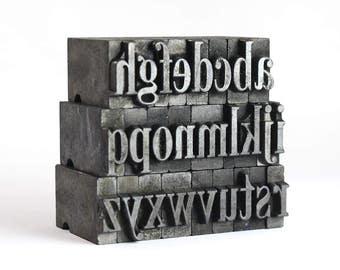 THE ALPHABET - 36pt Metal Letterpress (Serif)