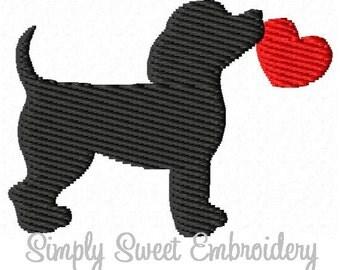 Dog Heart Mini Machine Embroidery Design