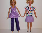 Handmade barbie clothes. Mix and match outfits 4 barbie doll