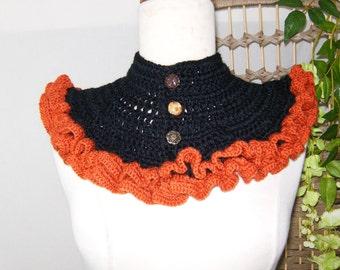 Bohemian  crochet collar , neckwarmer, Bohemian style