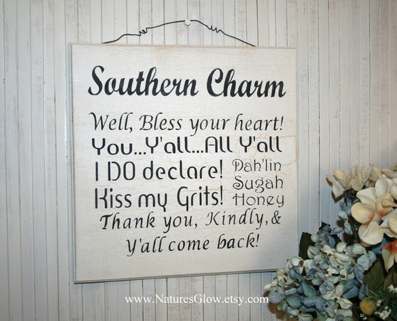 Items similar to Southern Girls Wear Pearls Wood Sign Wall ...  |Southern Girl Signs