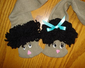 set of boy and girl Spanish Mexican sock puppets