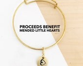 Heart Bangle | Heart Charm Necklace | Proceeds Benefit Mended Little Hearts