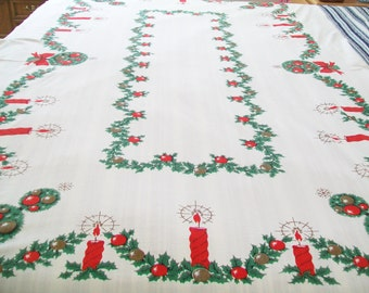 RESERVED for Shannon - SALE - Christmas Tablecloth, Large, holiday