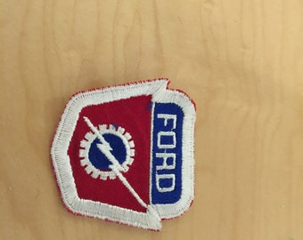 vintage car patch, ford, new old stock,1960's