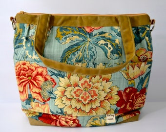 A Darby Mack Camera Bag.... we're different!  Vintage Floral & Waxed Canvas -  made in the USA
