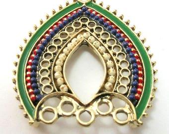 Gothic Arch Pendant (34mm) - Multi coloured
