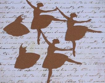 Ballerina Chipboard Die Cut Set