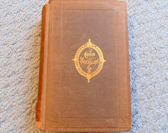 Crayon Miscellany Complete in One Volume, Washington Irving 1869 edition, Putnam Publisher, New York, Antique Book, Books, American Fiction