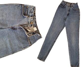 Vintage Levis High Waist Jeans Faded Acid Wash LEVIS 900 Series Womens Denim Blue Jeans Slim Fit Taper Leg Womens 80s Levi Jeans 25 Waist
