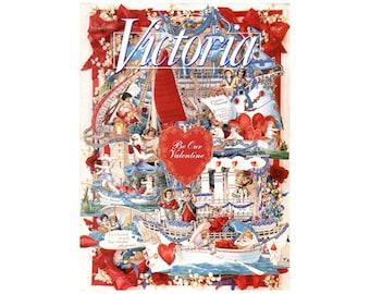 1995 Victoria Valentine Magazine, Victoria Magazine, Vintage Victoria Magazine, Valentine Magazine, Victorian Collectible NewYorkMarketplace