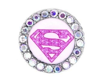 SuperGirl Sneaker Charm Pink-Running Jewelry-Running Shoe Charm-Shoelace Tag