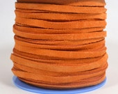 4mm Flat Suede Lace - Burnt Orange - 4MF-7 - Choose Your Length