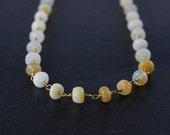 VALENTINE SALE Ethiopian Opal Necklace – Boho Beaded Necklace