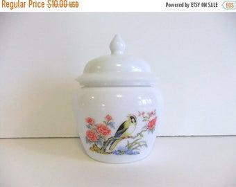 50% off Sale ON SALE Vintage Jar with Lid, Avon covered jar