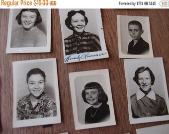 SALE SALE SALE Vintage School Photos Year Book Indiviual Wallet Black White Photography Mixed Media Art Supplies 1950s Mixed Lot 21 Crafting