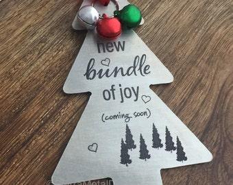 Christmas Pregnancy Announcement Ornament Holiday Pregnancy Announcement Grandparent to be Ornament Pregnancy Announcement Christmas