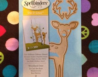 New Spellbinders Metal Die D-Lites Metal Die-Woodland Deer