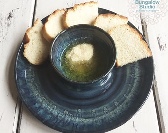 Olive Oil Dipping Tray, Ceramic Olive Oil Dish, Housewarming Gift