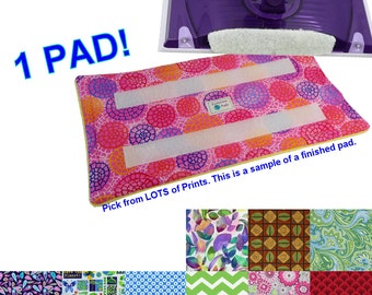1 Washable Reusable Eco Friendly Pads for the Swiffer Wet Jet. Secures with Velcro with Terry Cloth. LOTS of Prints. Handmade in Detroit MI