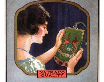 Barbour's New Bead Book c.1924 - Vintage Crochet and Knitting Patterns for Purses (PDF E-Book Digital Download)