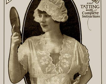 Adeline Cordet #3 c.1916 Vintage Patterns in Crochet & Tatting for Lingerie Yoke