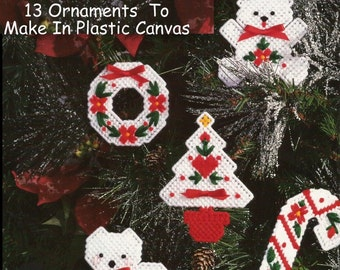 Christmas Ornament Patterns In Plastic Canvas - 13 Designs - PDF 12302416 - Full Color Patterns