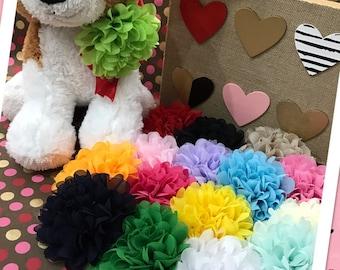 Hair/Collar flower clips