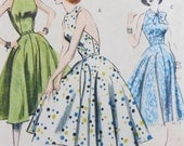 Halter Dress Sewing Pattern UNCUT Butterick B4512 Sizes 6-12