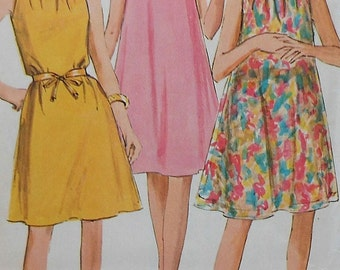 Vintage Dress Sewing Pattern Simplicity 7169 Size 12