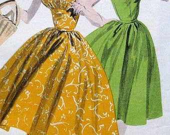 Vintage Dress Sewing Pattern Butterick 7779 Size 12