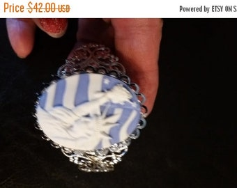 Gorgeous Statue of Liberty Lacy Cuff Bracelet --20-25% off Jewelry SALE -- FREE Gift Wrap