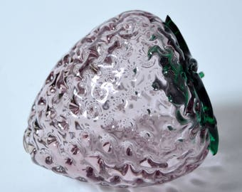 BLENKO  glass #9350  RASPBERRY in Orchid and Emerald