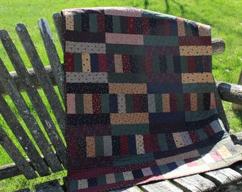 Reserved for Kris  Layered Ladder quilted topper/lap quilt