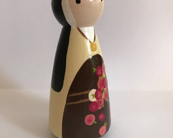 St. Therese of Lisieux - Wooden Peg Doll