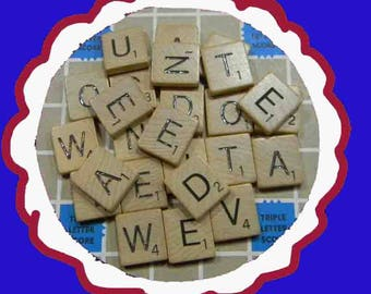 RANDOM SCRABBLE TILES. Buy 25, 50 or 75 Random Scrabble Tiles. 5226