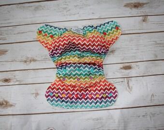 Rainbow Chevron Diaper Cover- Rainbow-Rainbow baby-Chevron-Zig zag-colorful-diaper cover-nappy-cover-
