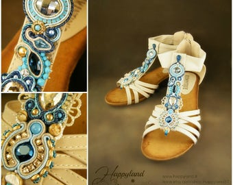 Capri, Soutache shoes handmade and awesome OOAK