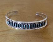 Zuni Turquoise Bracelet Needlepoint PETITE