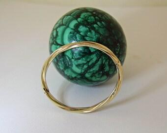 14K Gold Bangle Bracelet Expandable Twisted Design
