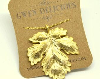 Stuffing Gold  Leaf Pendant