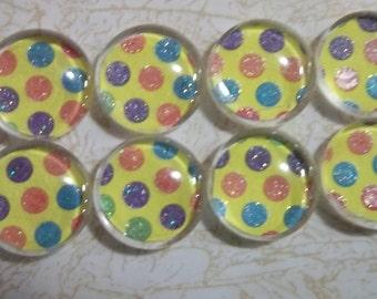 Push pins, pushpins, decorative tacks, decorative pins, office supply, office tacks, fancy pins, glass pins, set of eight