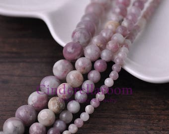Round Natural Lilacs Stone Gemstone Loose Spacer Beads 4mm/6mm/8mm/10mm Wholesale lot for Jewelry Making DIY Findings BS109