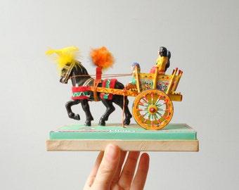 Vintage Gidi's Italian Gypsy Horse and Buggy